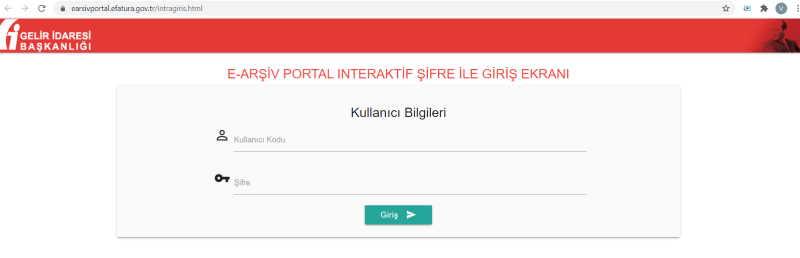 E-Arşiv Portalı